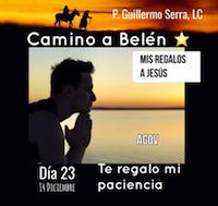 """33 Días camino hacia Belén: Sal de Tú Cielo (Día 23) """"P. Guillermo Serra, L.C."""