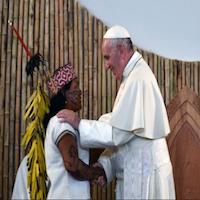 Papa Francisco con los pueblos Amazónicos
