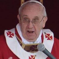 Pope Francis said the first thing is faith