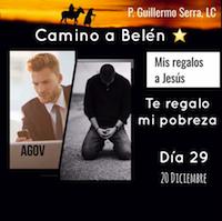 """33 Días de camino hacia Belén: Sal de Tú Cielo (Día 29) """"P. Guillermo Serra, L.C."""""""