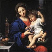 La Virgen de las Uvas de Mignard