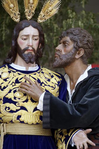 Resultado de imagen de paso el beso de judas a jesus