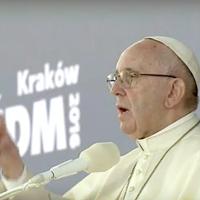 Papa a los jóvenes: ¿Dónde está Dios si hay niños que sufren?