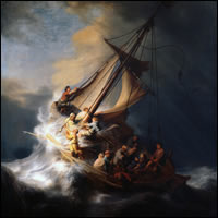 Una pequeña barca en medio de la tormenta