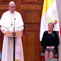 El Papa Francisco con autoridades chilenas