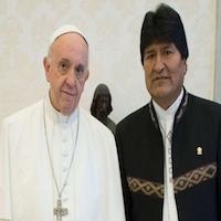 Audiencia con Evo Morales