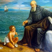 La historia de san Agustín y el niño junto al mar