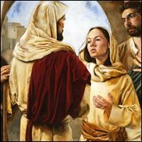 María… sentada a los pies del Señor, escuchaba su palabra